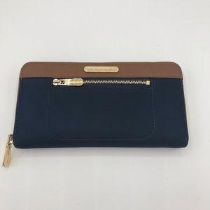 MICHAEL KORS Wallet Blue Brown